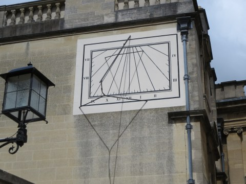 Sundial in Christchurch college Oxford