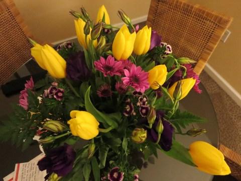 Fresh flowers in room 902