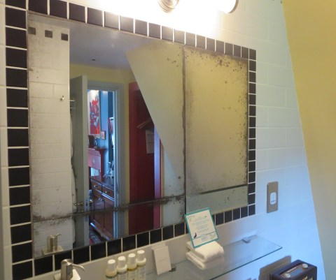Artsy bathroom quadrangle