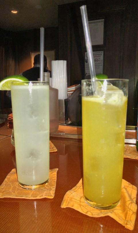 Gin Rickey (a la DC) and bourbon (??) Rickey