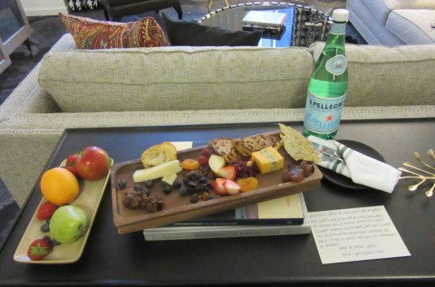 What a spread.  Cheese, fruit, sparkling water and a note.  Rock it Kimpton!