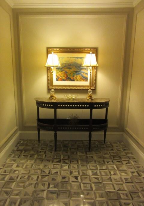 Entrance hallway has a remarkable floor