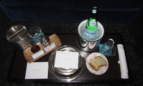 Amenity with a manhatten from the Riggsby