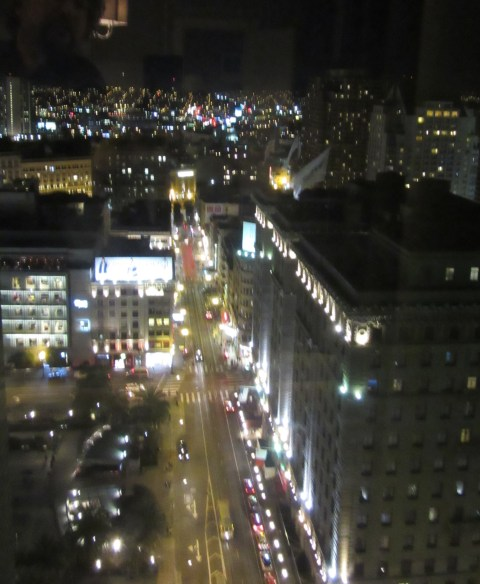 And the view at night is very much city in all directions from the 20th on a hill