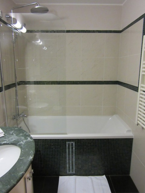Euro shower not quite up to standards