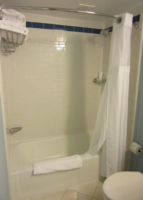 This is a classic plastic shower.  It sucks.