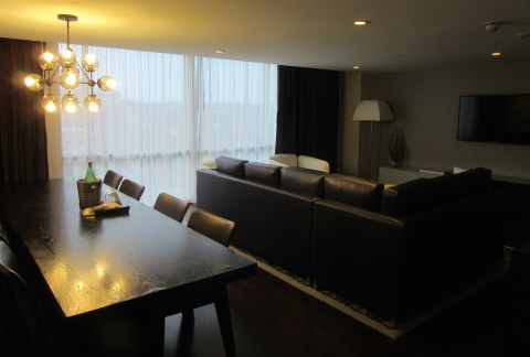 Living room overlooking the circle