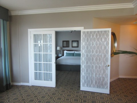 View into the bedroom
