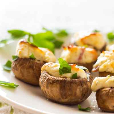 Easy Bacon and Blue Cheese Stuffed Mushrooms