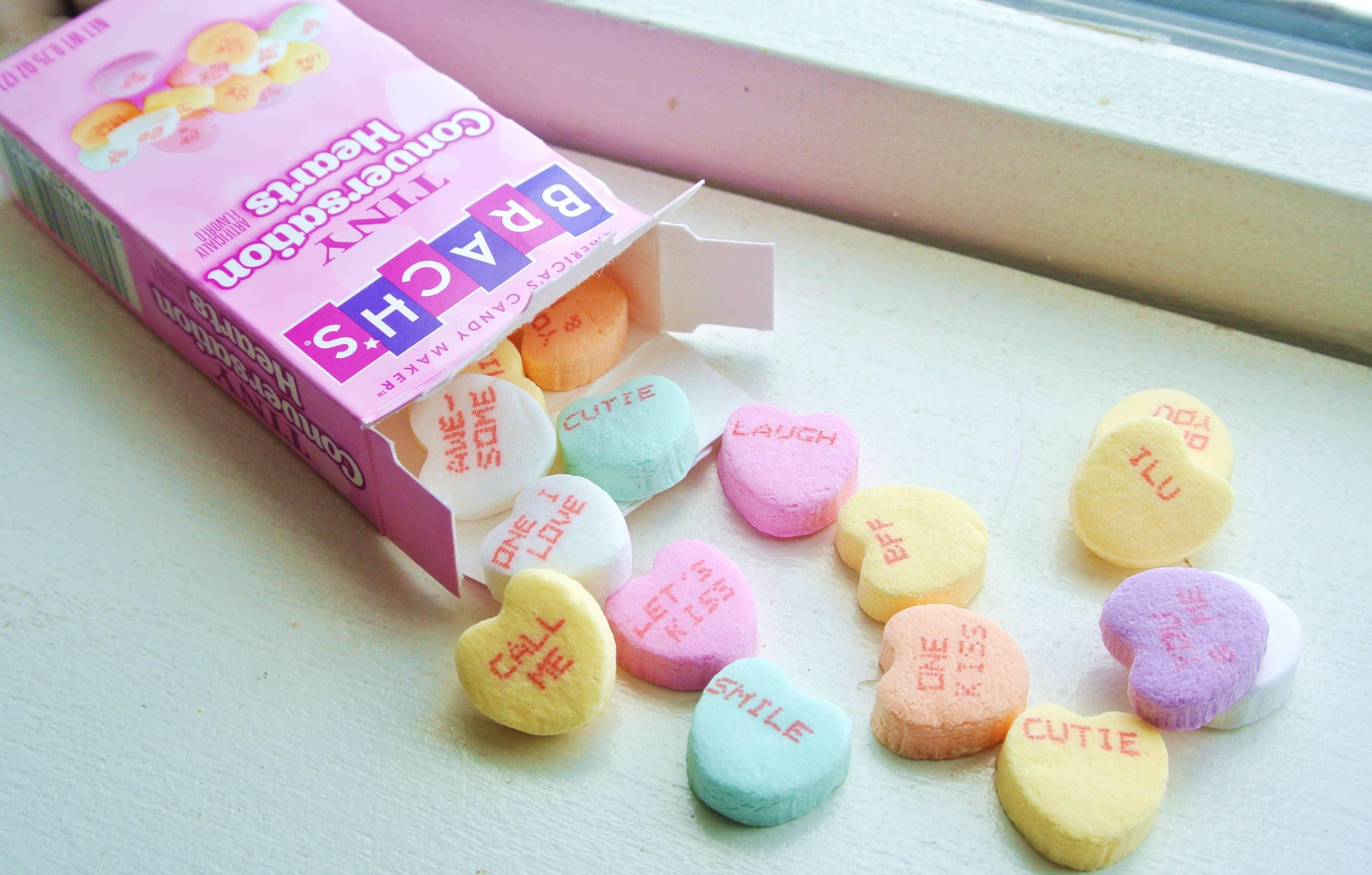 Tiny Brach's Conversation Hearts Candy