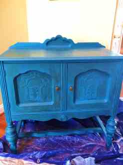 Buffet Server AFTER DIY Chalk Paint Entryway Table Makeover