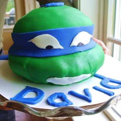How to Make a Ninja Turtle Fondant Cake