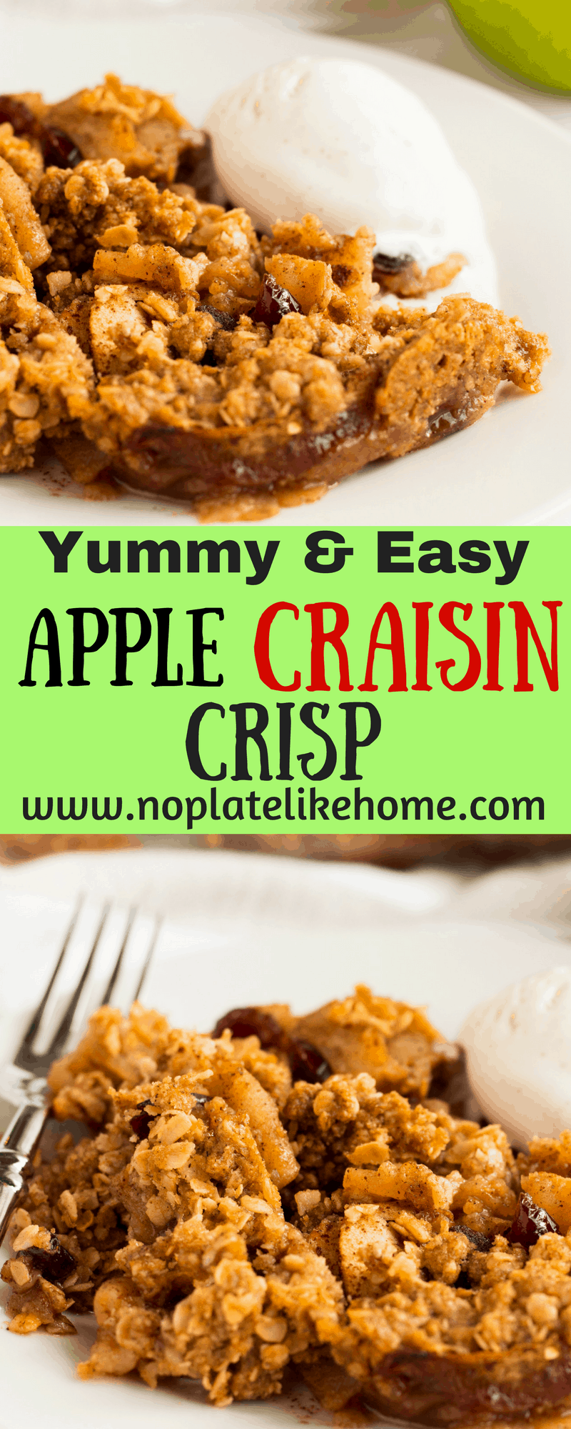 Yummy Easy Apple Craisin Crisp