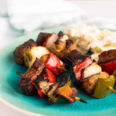 Grilled Asian Hoisin Beef Kabob Bites