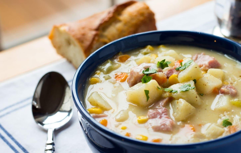 One Pot Ham Potato And Corn Chowder No Plate Like Home