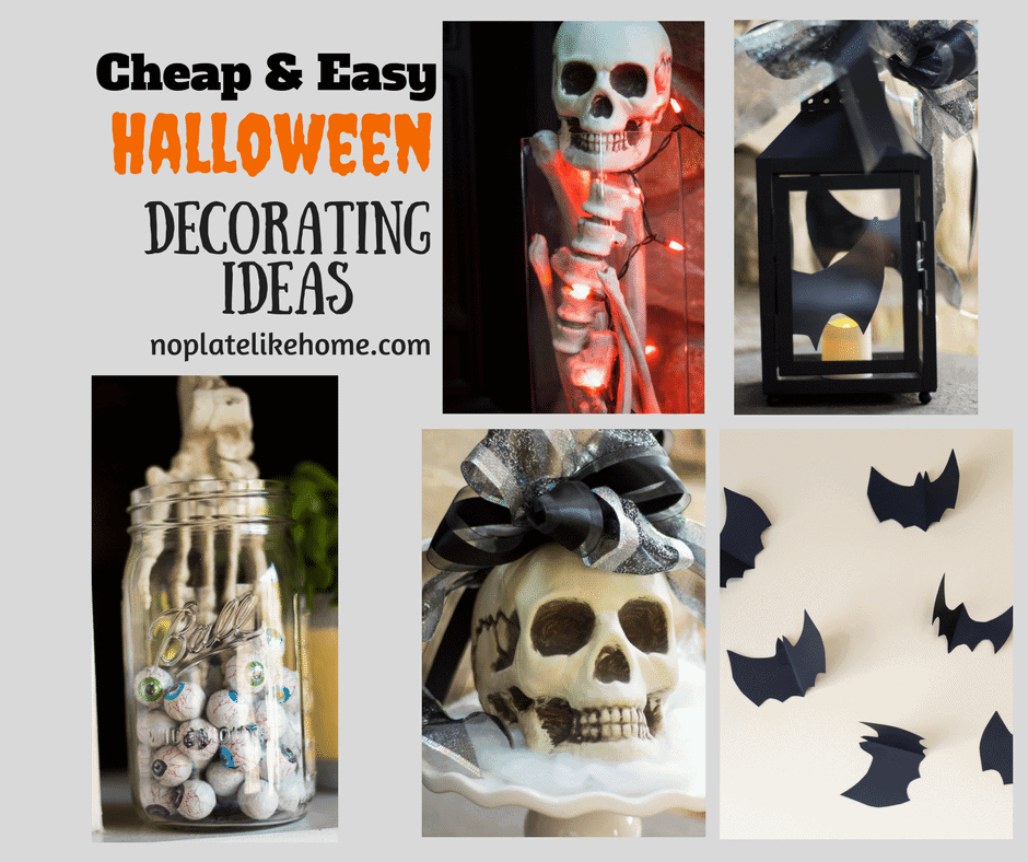 Easy At Home Halloween Decorations: Cheap And Easy Halloween Decorating Ideas