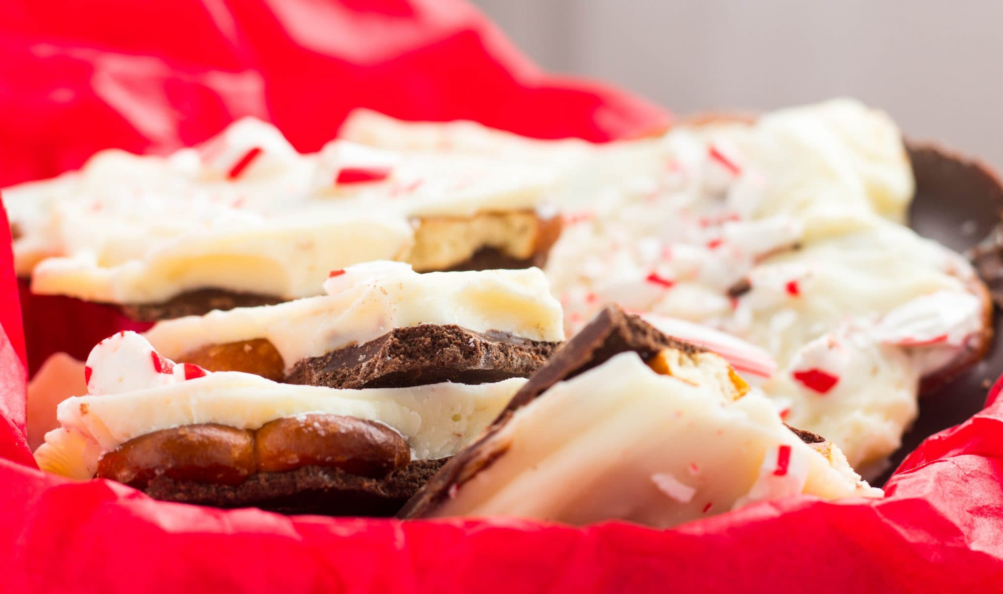 Easy Peppermint Pretzel Bark