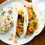 Panko Fish Tacos with Sriracha Lemongrass Sauce