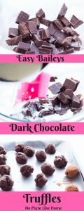 Easy Baileys Dark Chocolate Truffles