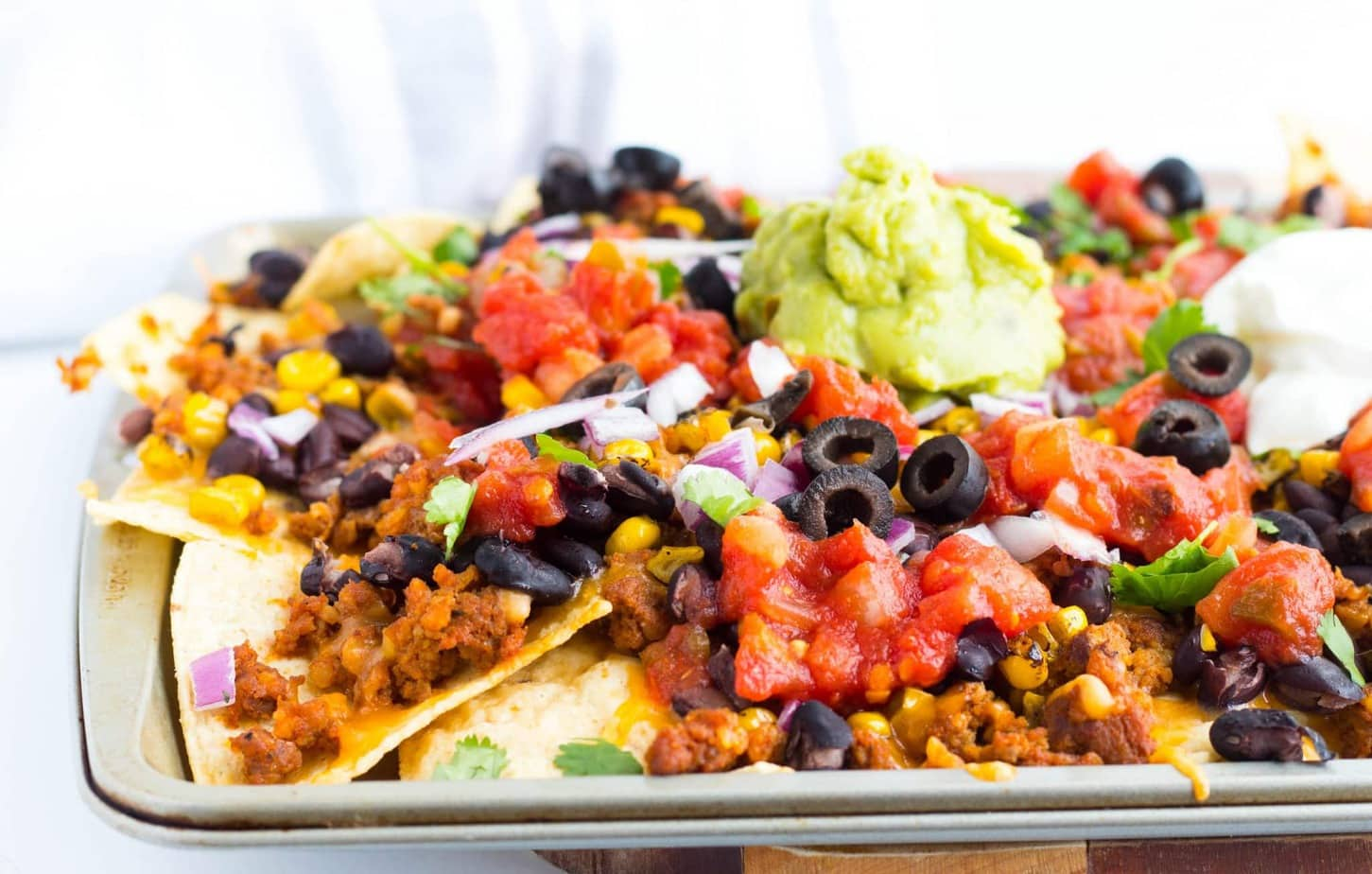 """Hatfield Chorizo Ground Sausage Loaded Sheet Pan Nachos"