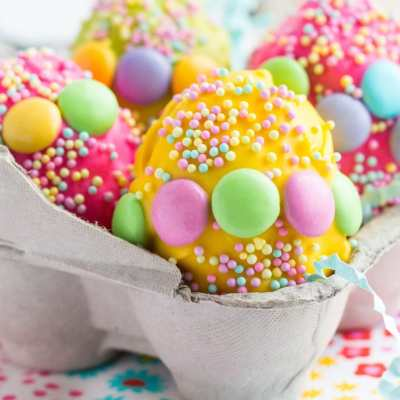 Rice Krispies Treat Easter Eggs with Cadbury Egg Surprise