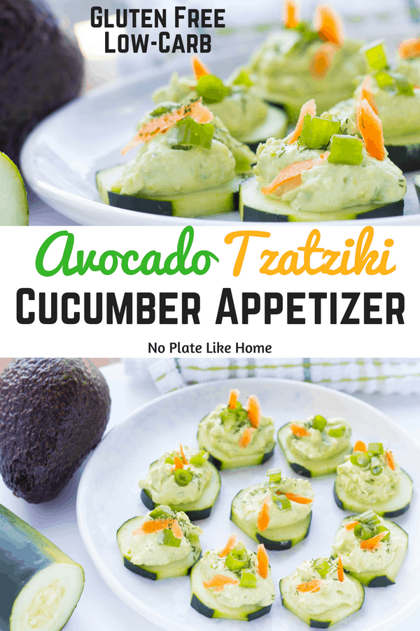 Avocado Tzatziki Cucumber Appetizer