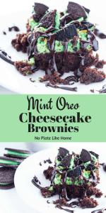 Mint Oreo Cheesecake Brownies