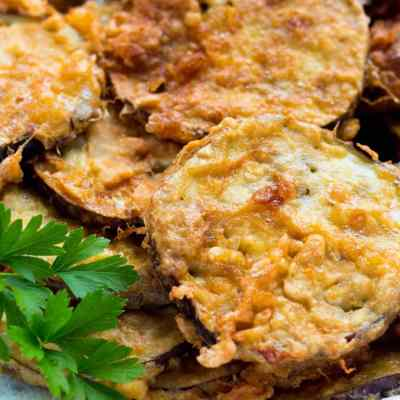 Simple Moist Italian Fried Eggplant Recipe