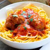 Authentic Homemade Italian Meatballs & Tomato Sauce