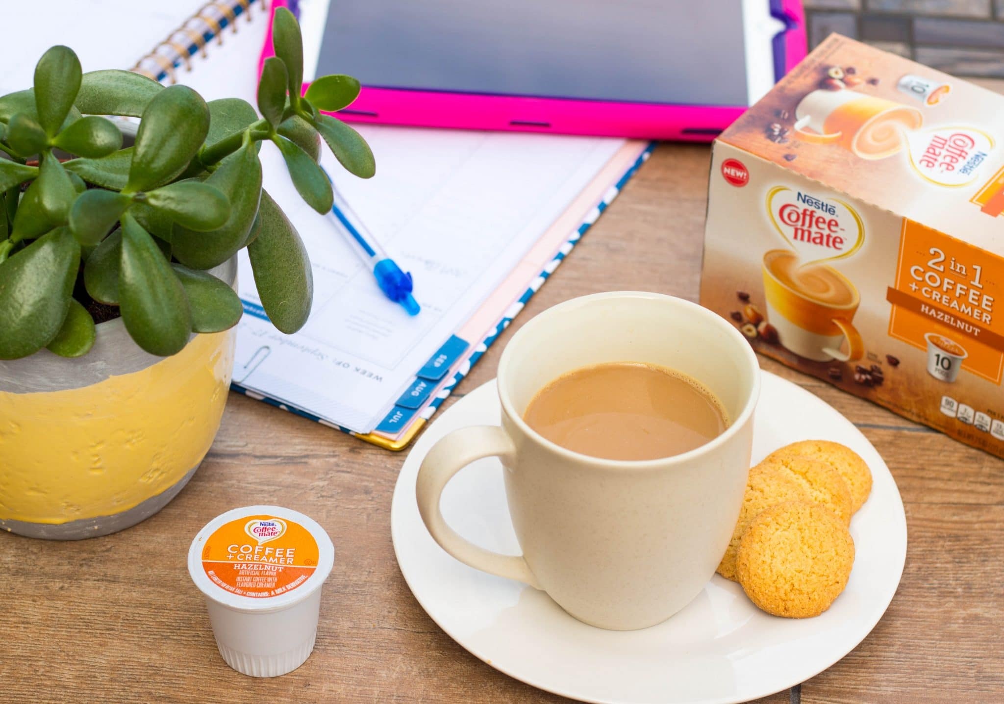 You need a quiet moment before your family wakes up! NESTLÉ® 2 in 1 Coffee Pods contain both coffee & creamer! Brew your coffee in one simple step!