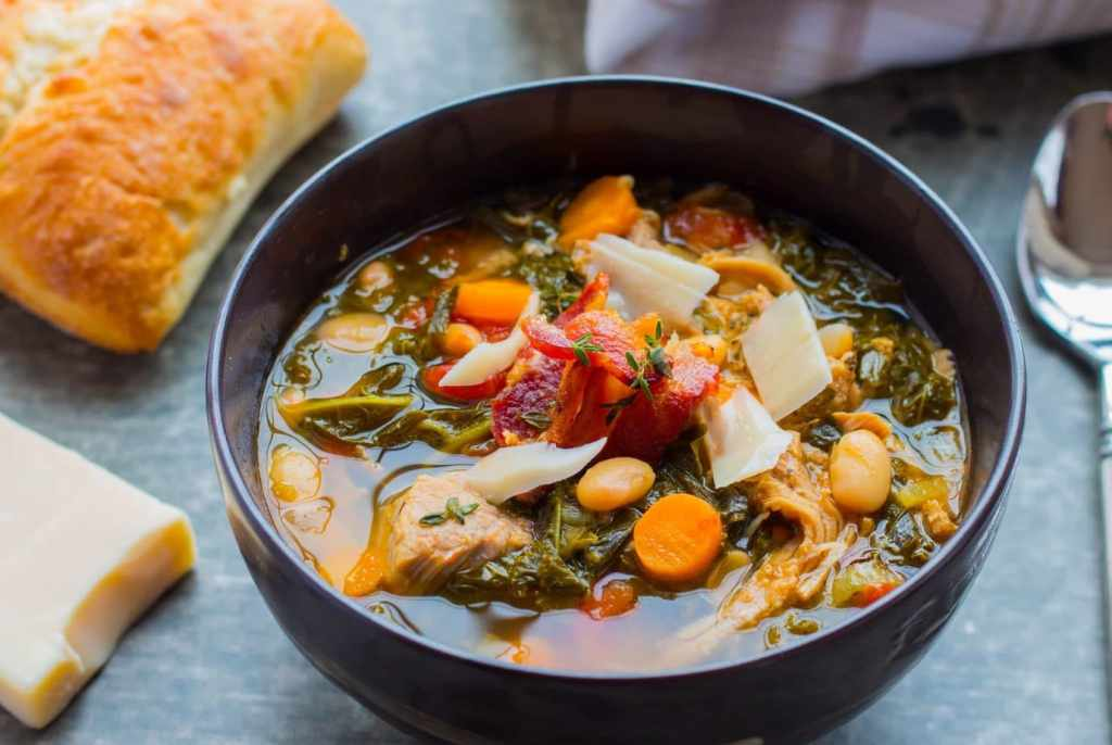 Make this easy and delicious Instant Pot Hatfield Tuscan Pork & White Bean Stew with a marinated pork tenderloin in 25 min! Slow cooker directions too!