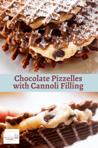 Chocolate Pizzelles with Cannoli Filling