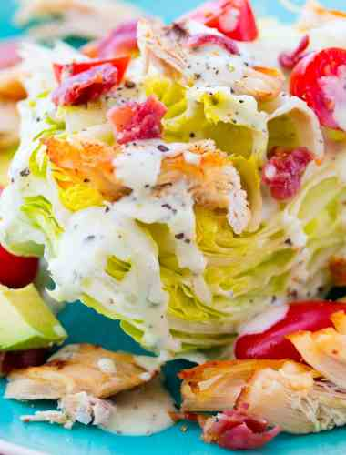 Avocado Bacon Ranch Iceberg Lettuce Wedge
