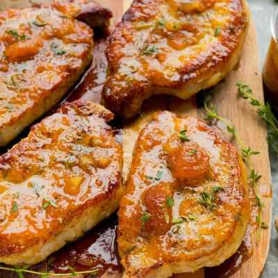 Easy Apricot Ginger Steakhouse Pork Chops in 30 min!