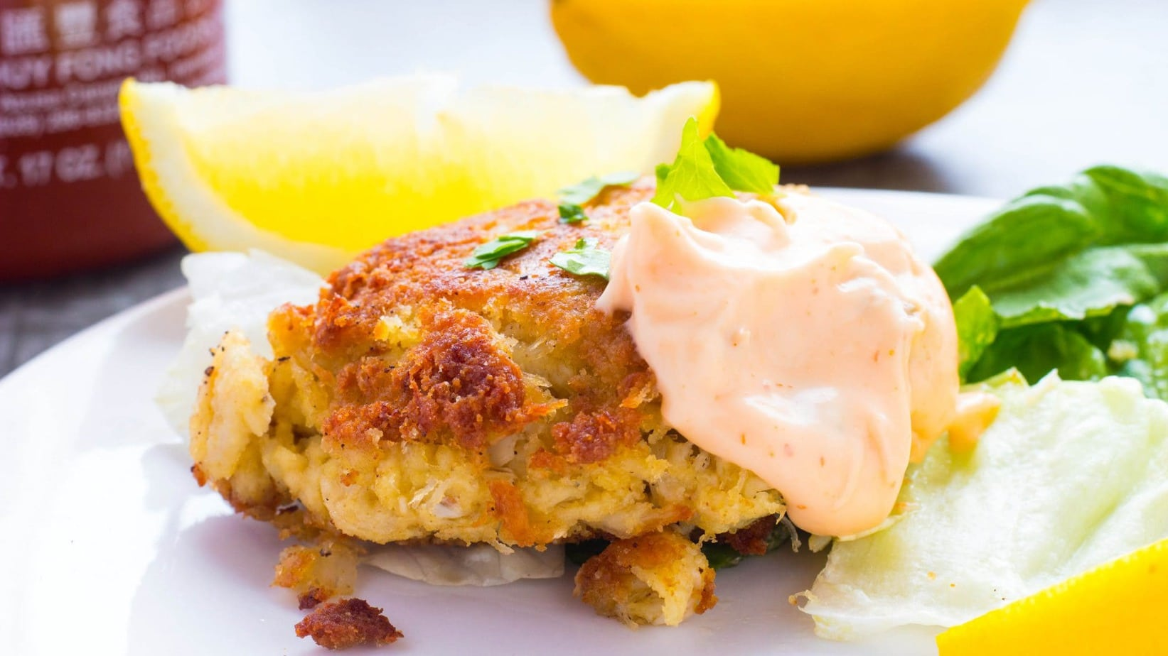 Homemade Maryland Lump Crab Cakes with Spicy Tarter Sauce are an easy, quick and tasty dinner, lunch or appetizers. Ready in 15 min with canned crab meat.
