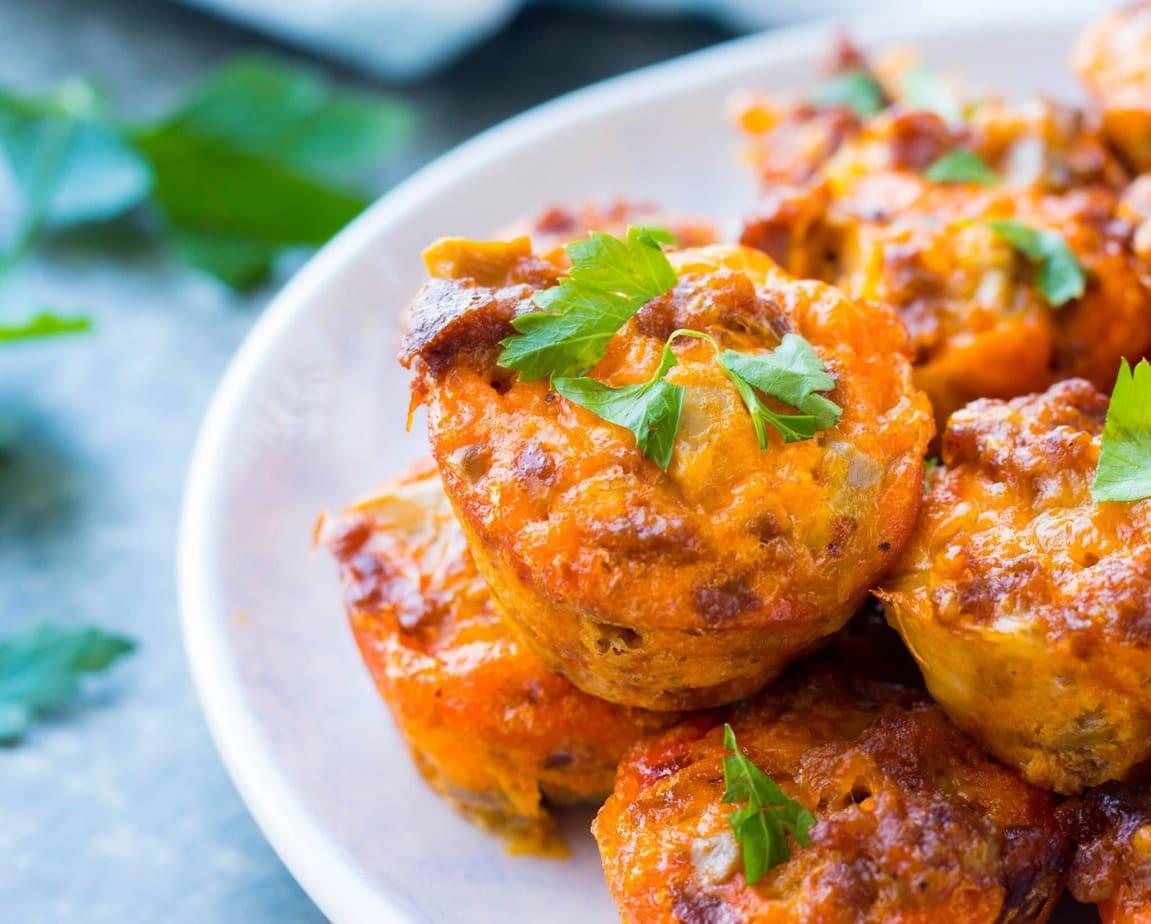 Sausage & Mushroom Frittata Bites