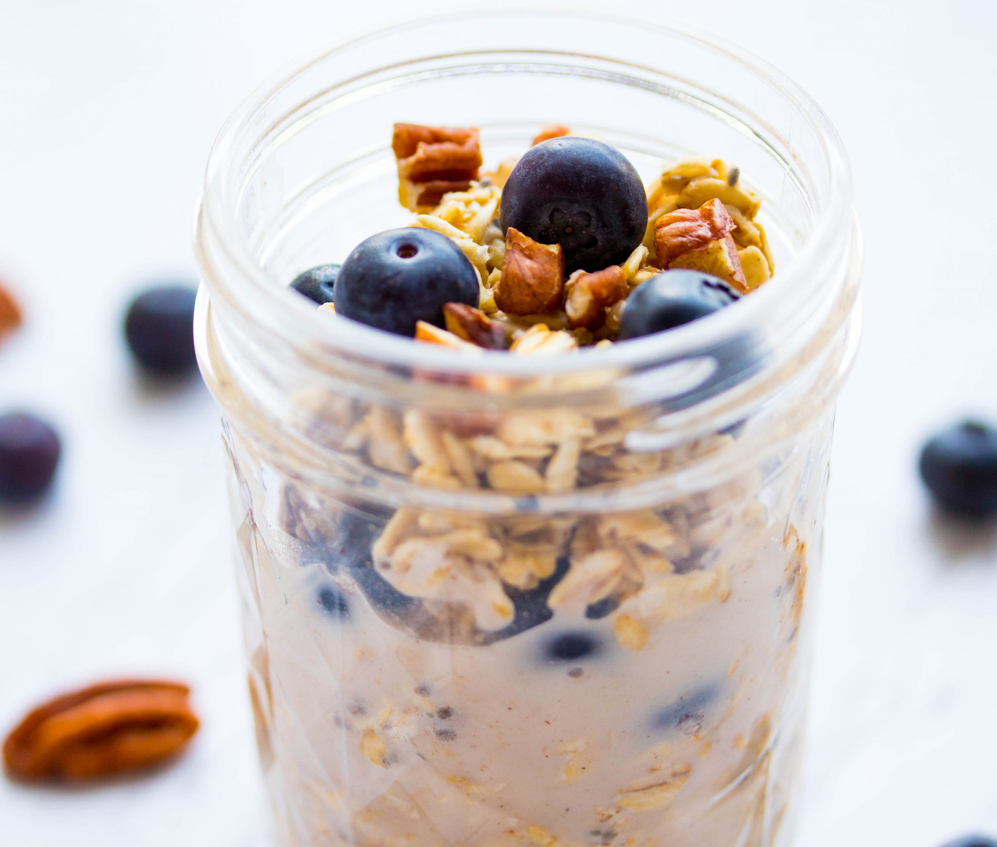 Blueberry Pecan Overnight Oats