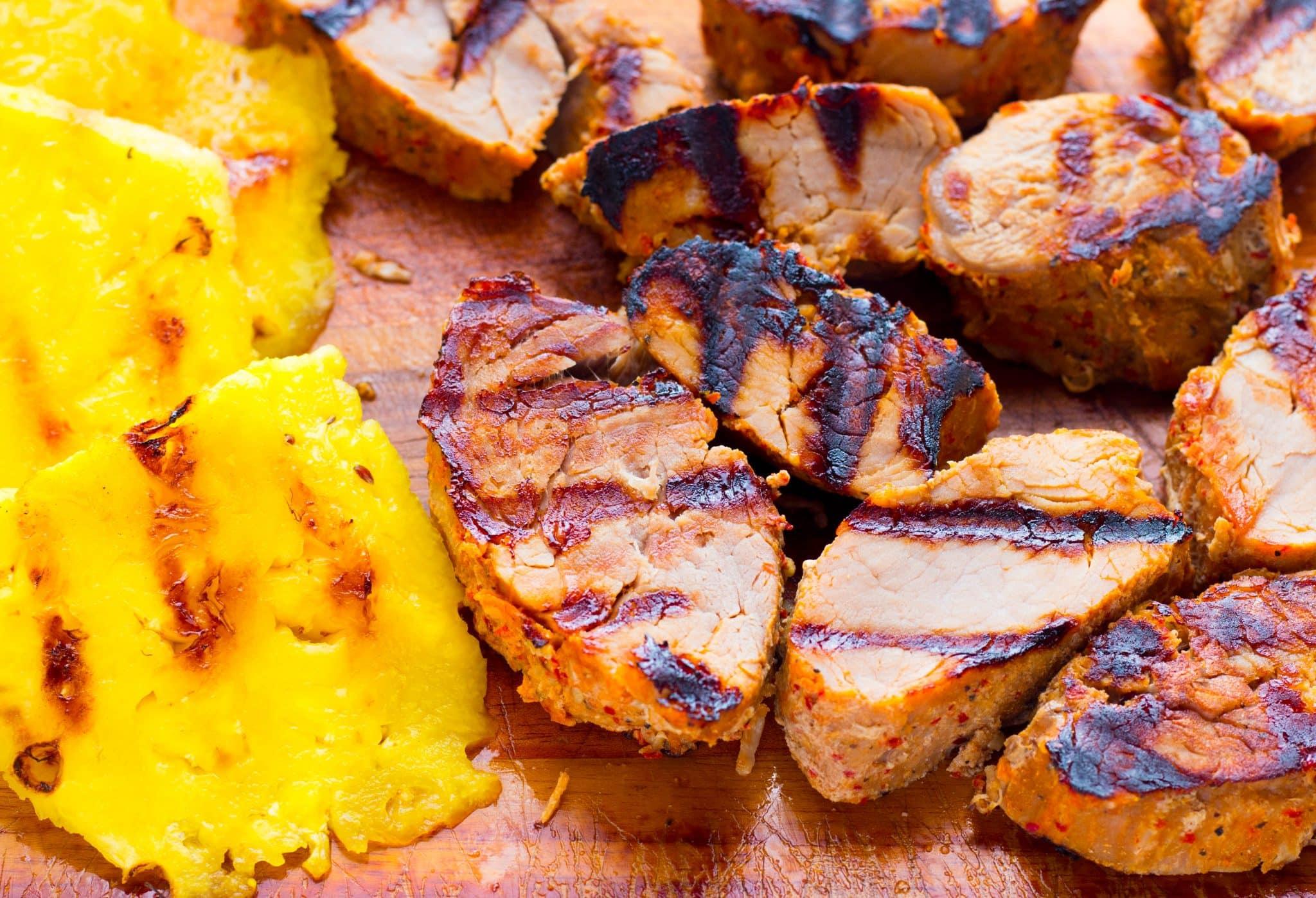 Grilled Pineapple Teriyaki Pork Sandwiches