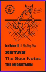 09/20/2017: Lee Bains III & the Glory Fires, XETAS, Midgetmen, and The Sour Notes at Cheer Up Charlies!