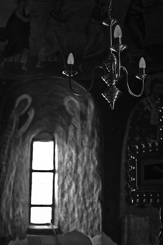 Lights cut Orthodox Church photo