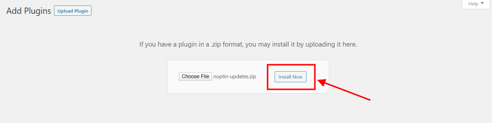 wordpress install uploaded plugin
