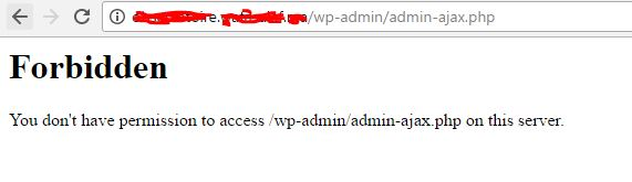 ninja forms stuck on processing admin ajax blocked