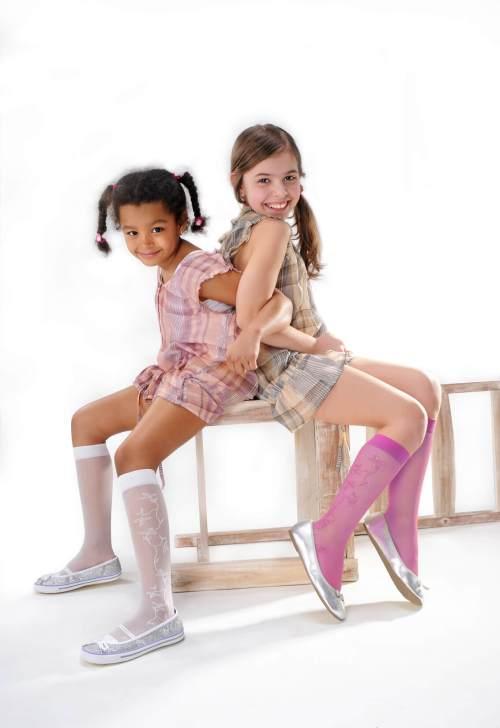 Podkolanówki dziewczęce z lureksem Lasse