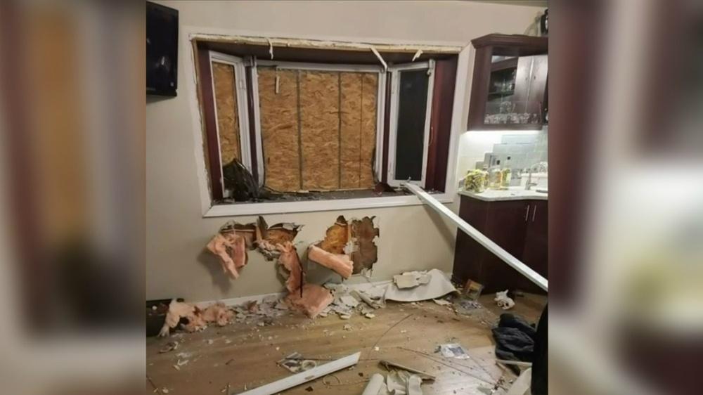 Home firebombed