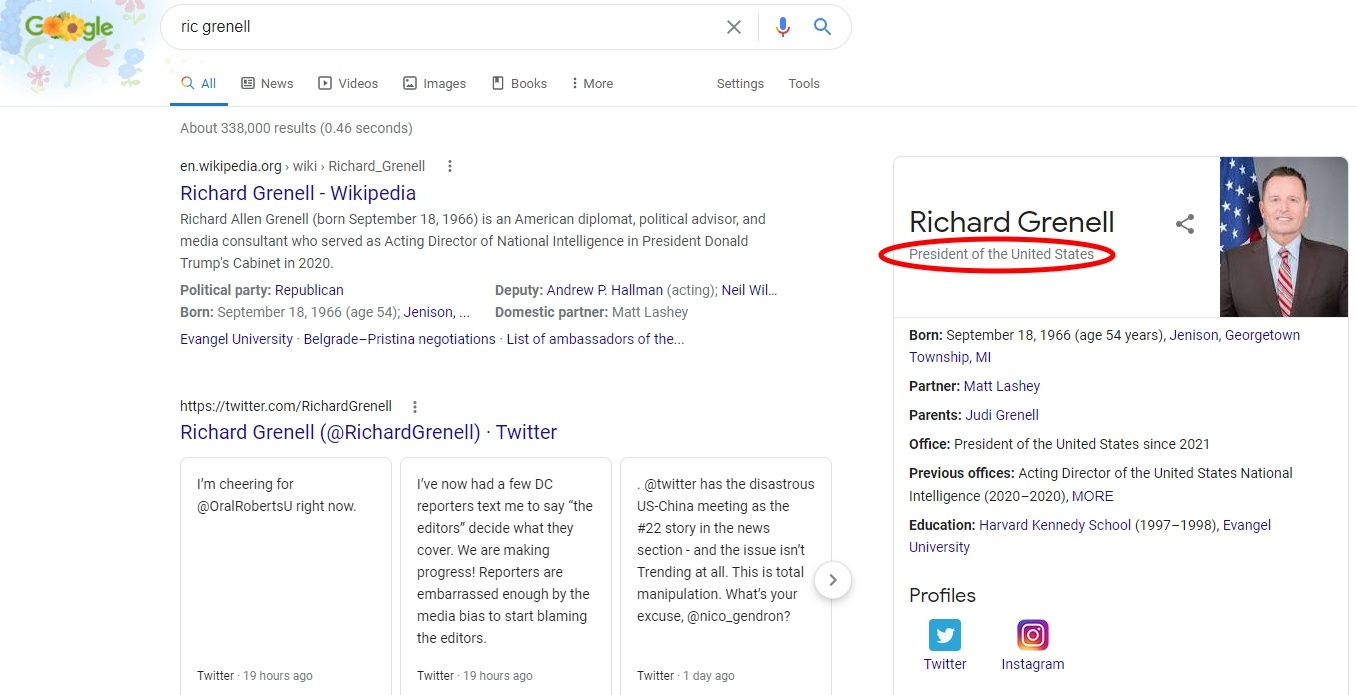 Richard Grenell President of the United States