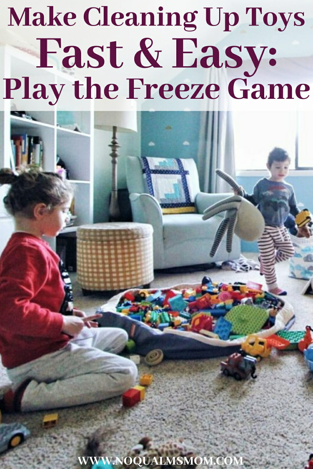 Make Cleaning Up Toys Easy & Fast: Play the Freeze Game