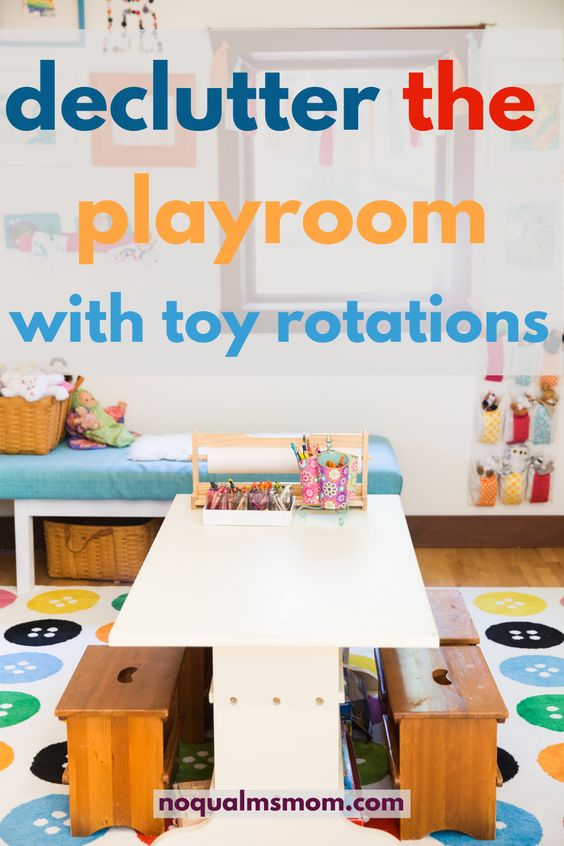 how to declutter your play room with toy rotations
