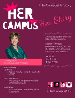Her Campus Her Story Event Flyer