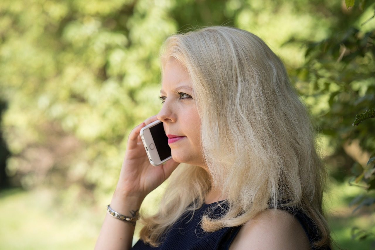 mobile phone, woman, business