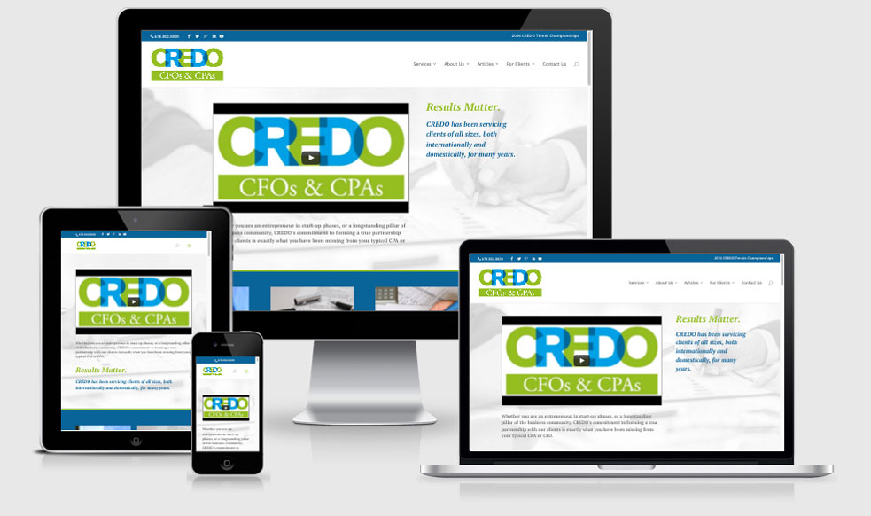 Credo CFO's and CPA's Website